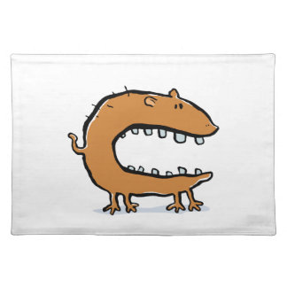 hungry animal cloth placemat