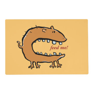 hungry animal (editable text) placemat