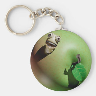 Hungry Apple maggot Key Chains