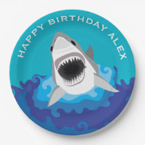 Hungry as a Shark Boy's Birthday Party Paper Plate