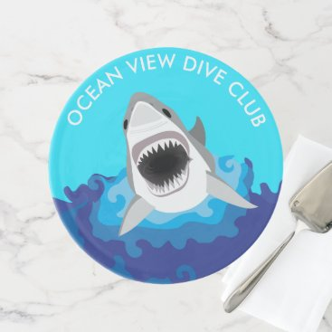 Beach Themed Hungry as a Shark Dive Club Party Cake Stand