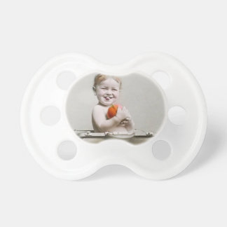 Hungry Baby Cute Little Peach in Handbag Vintage Pacifier