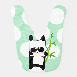 hungry baby panda bib