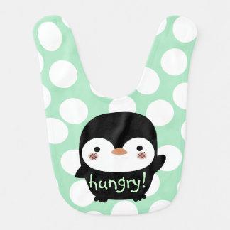 hungry baby penguin bib