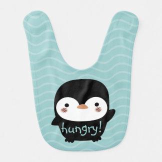 hungry baby penguin bibs
