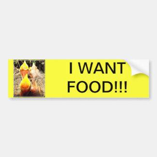 Hungry Baby Robins Bumper Sticker