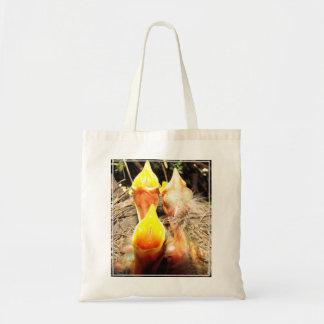 Hungry Baby Robins Tote Bag
