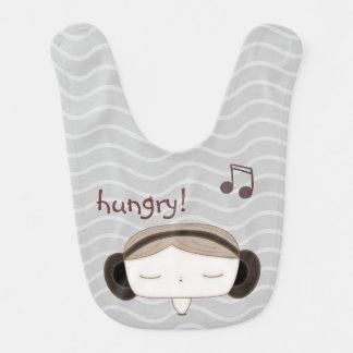 hungry baby soundgirl baby bibs