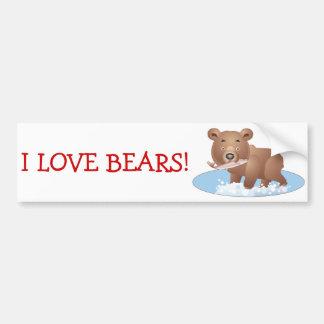 Hungry Bear Bumper Sticker