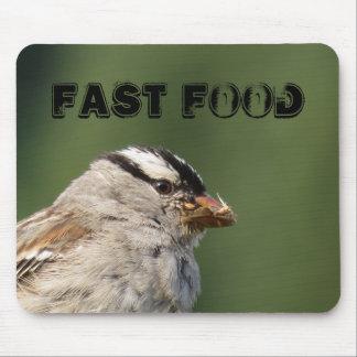 Hungry Bird Fast Food Mousepad