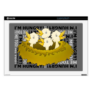 Hungry Birds in a Nest Laptop Decals