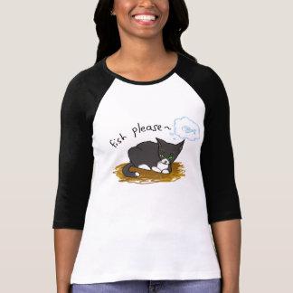 Hungry black cat T-Shirt