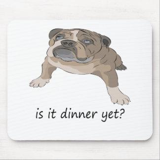Hungry Bulldog Puppy Mouse Pad