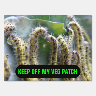 Hungry Cabbage White Caterpillars Custom Sign