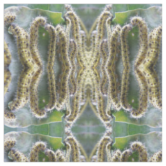 Hungry Cabbage White Caterpillars Patterned Animal Fabric