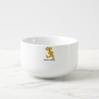 Hungry Cartoon Dog T-Shirt Soup Mug