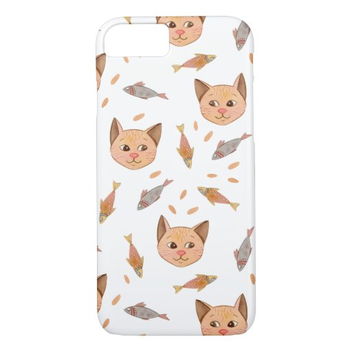 Hungry Cat and Fish Phone Case