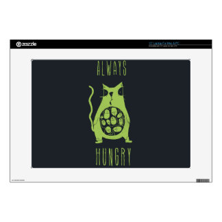 "Hungry cat is hungry 15"" laptop decals"