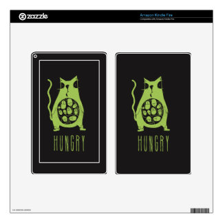 Hungry cat is hungry decals for kindle fire