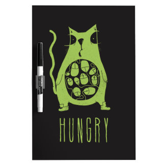 Hungry cat is hungry Dry-Erase board