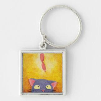 Hungry cat keychain (premium)