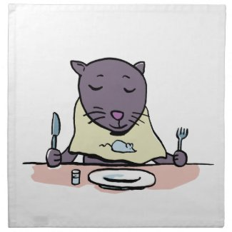 hungry cat printed napkins