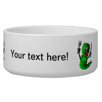 Hungry caterpillar cartoon pet bowl