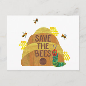 Hungry Caterpillar   Save the Bees Postcard
