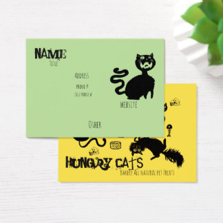 Hungry Cats~ business Cards