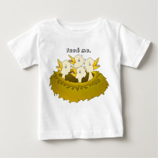 Hungry chicks in a nest baby T-Shirt