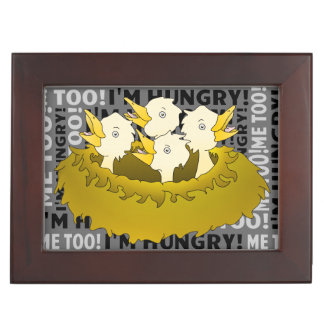 Hungry Chicks in a Nest Keepsake Box