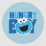 Hungry Cookie Monster Classic Round Sticker