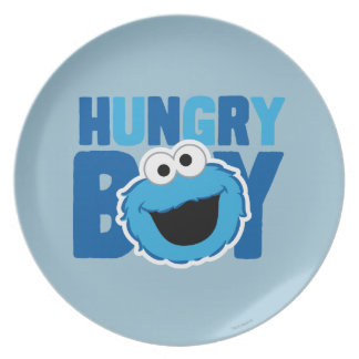 Hungry Cookie Monster Melamine Plate