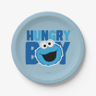 Hungry Cookie Monster Paper Plate