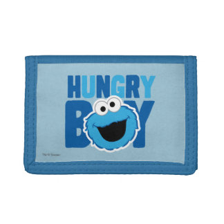 Hungry Cookie Monster Trifold Wallets