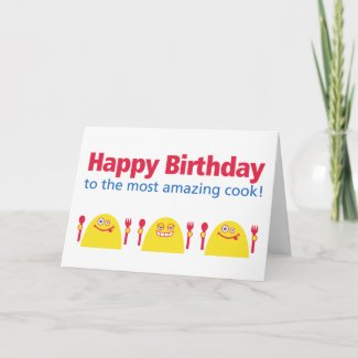 Hungry Creatures Birthday card
