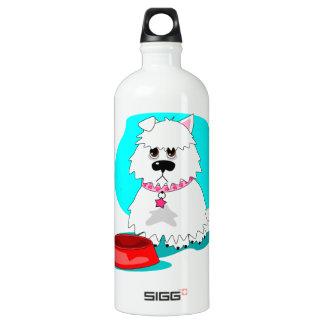 Hungry dog & empty dish aluminum water bottle