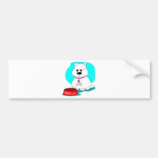 Hungry dog & empty dish bumper sticker