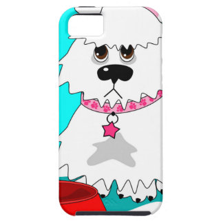 Hungry dog empty dish iPhone 5 cases
