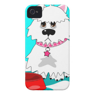 Hungry dog empty dish iPhone 4 Case-Mate case