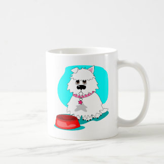 Hungry dog & empty dish coffee mug