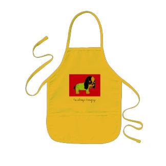 Hungry dog kids' apron