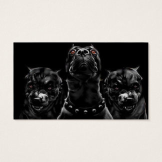 Hungry Dogs Black Animal Modern Business Cards