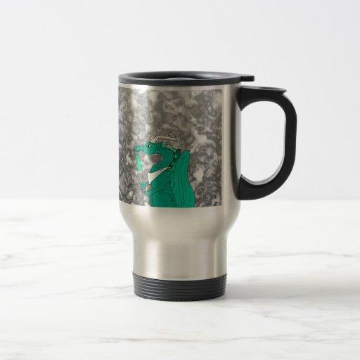 Hungry Dragon 15 Oz Stainless Steel Travel Mug