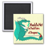 Hungry Dragon 2 Inch Square Magnet