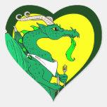 Hungry Dragon Heart Sticker