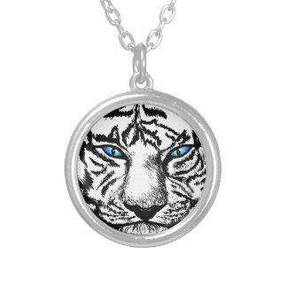 Hungry Eyes Round Pendant Necklace