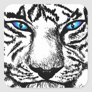 Hungry Eyes Square Sticker