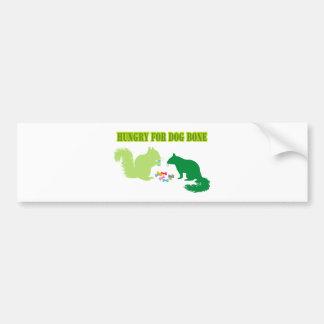 Hungry for Dog Bone-Squirrel Bumper Sticker