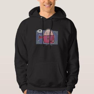 Hungry For Monkey Black Hooded Sweatshirt